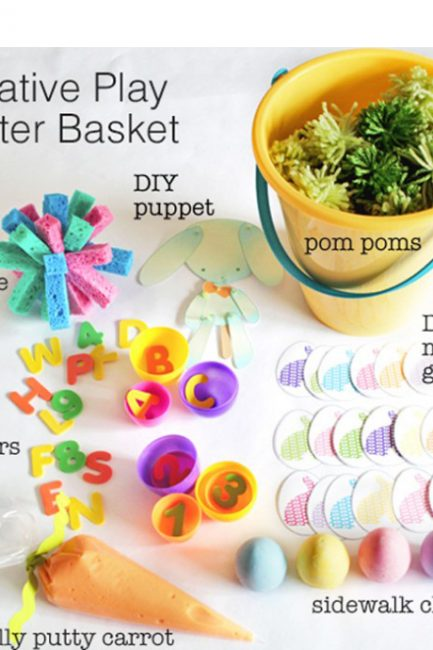 Creative Play Easter Basket - a great candy-free alternative