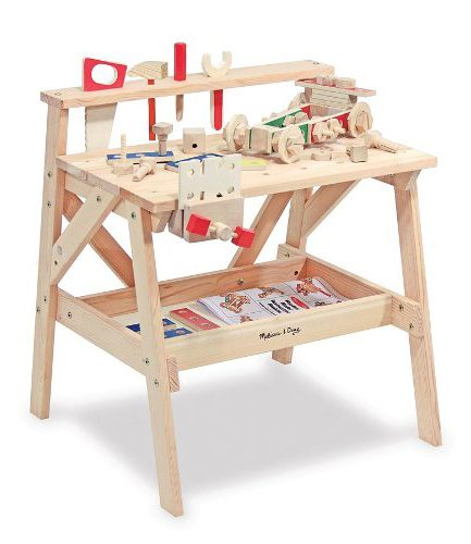 Build Dramatic Play and Fine Motor Skills with a Wooden Workbench