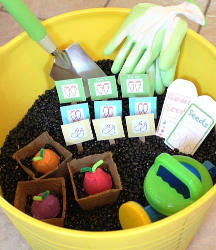 DIY Veggie Garden Sensory Box
