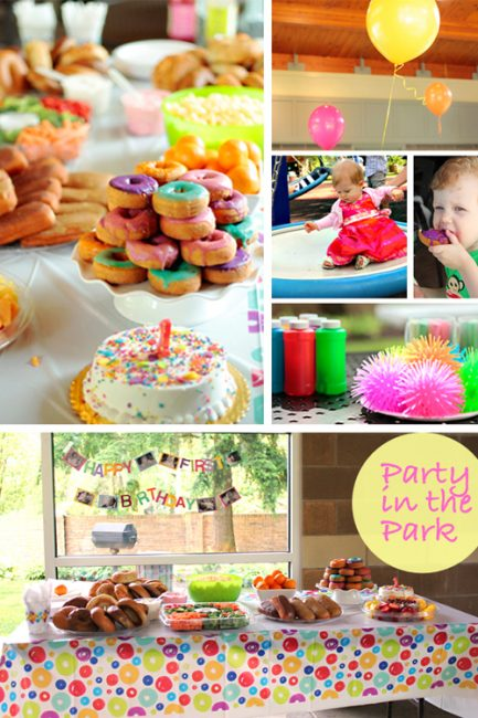 A Colorful (& Cheap) First Birthday Bash