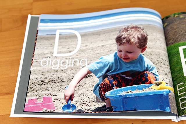 Love this custom alphabet photo book idea - made it for my son's 3rd birthday and he was thrilled