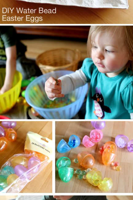 Creative Play Easter Basket Idea: Water Bead Eggs