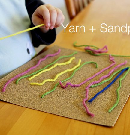 Yarn + Sandpaper + a Cereal Box = A Fabulous 3-in-1 Quiet Time Activity