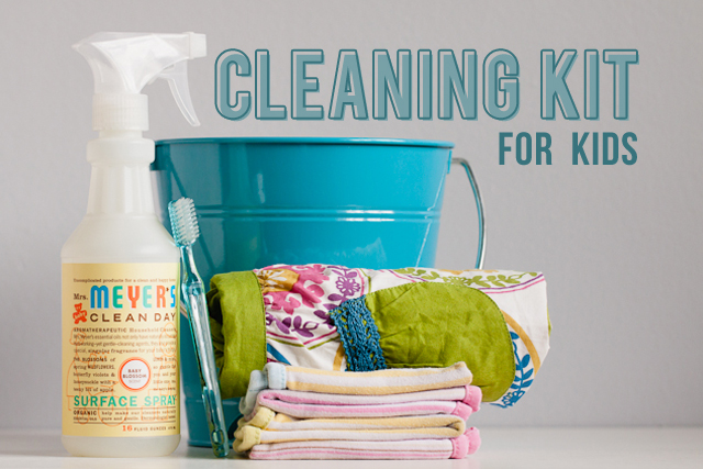 DIY cleaning kit for kids - made one for my littles and they went crazy for it!