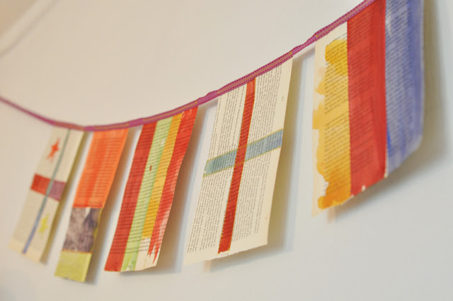Kid Craft: Book Page Flags