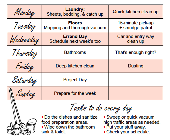 Tips on setting up a cleaning schedule