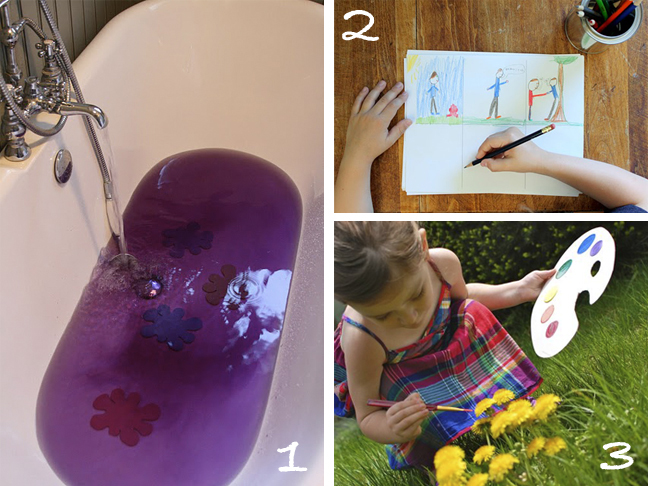 Glue paints other boredom busters modern parents messy for Crafts to do when bored pinterest