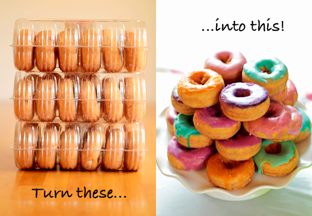 Party DIY Make Custom Colored Donuts