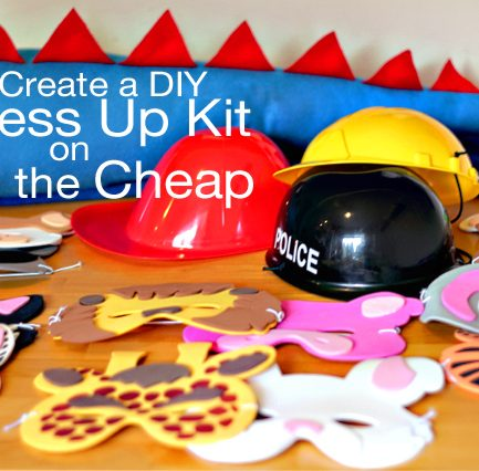 Christmas Gift Idea: Make a Dress Up Kit with Halloween Clearance Items