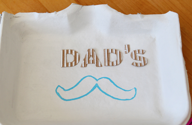 "Father's Day Craft: ""Dad's Stache"" Tray"