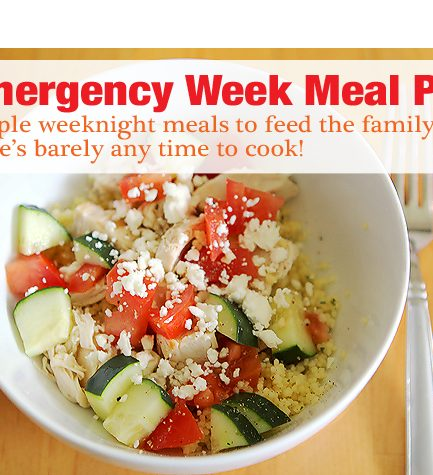 My Emergency Go-To Meal Plan