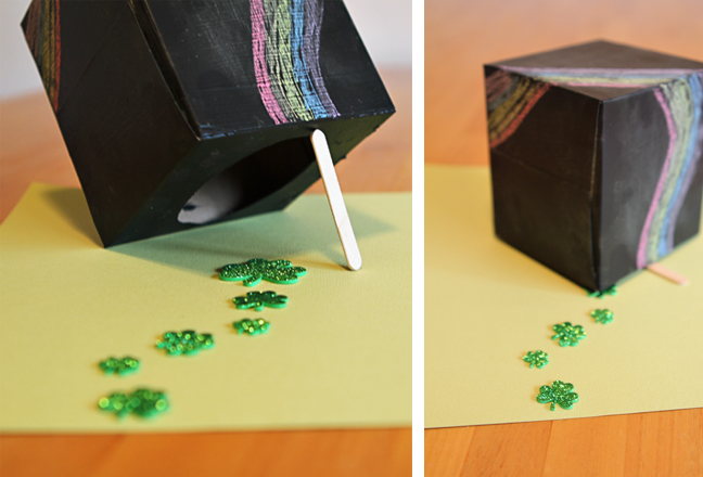 A leprechaun trap kids can redesign every day - such a great way to get them thinking!