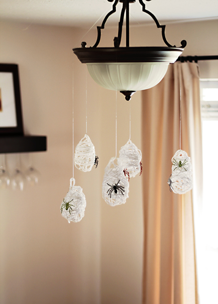 DIY spider sacks - making these are a Halloween tradition with our kids, they LOVE them.