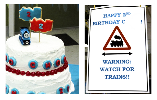 I Know What Youre Thinking Another Train Party Admit Cs 2nd Birthday Was Centered On A Very Unoriginal Theme Complete With One Large Thomas