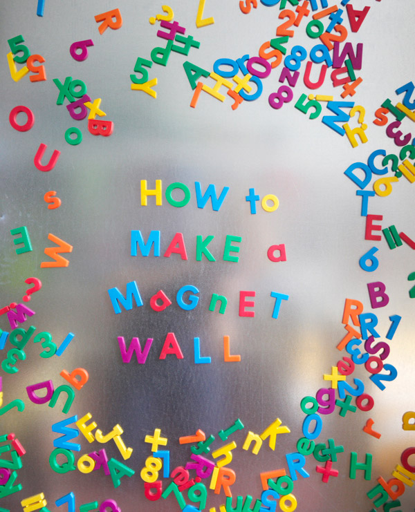 How to make a magnet wall