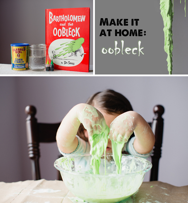 How to make Dr. Suess' Oobleck - a great Halloween activity for the kids!