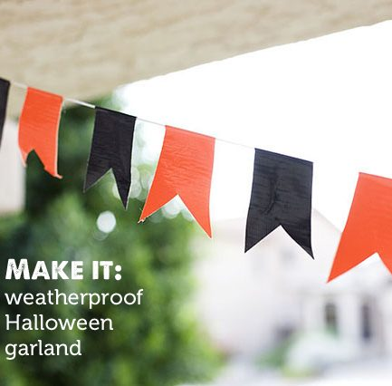 DIY Outdoor Halloween Garland