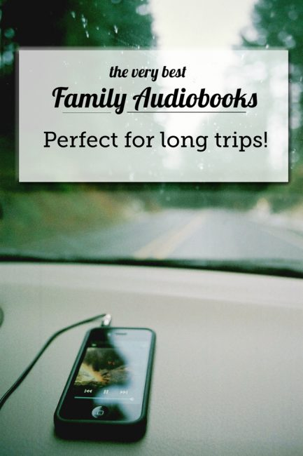 Family-friendly audiobooks for long car rides - these have made our summer traveling so much more enjoyable!