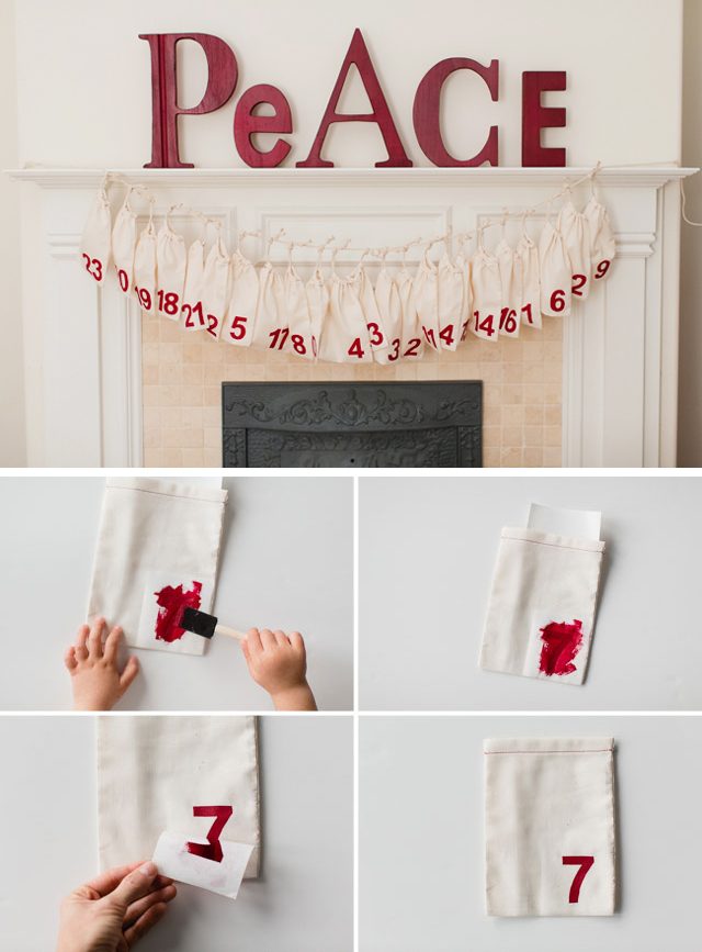 Love the clean look of this simple Advent calendar and it's surprisingly well-suited for making with kids of all ages!