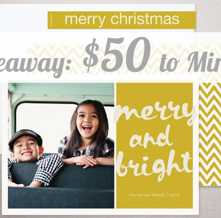 Lightening Giveaway: $50 to minted – Today Only!