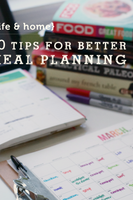 POYEL: 10 Tips for Better Meal Planning