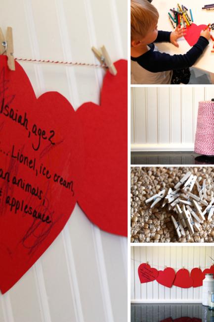 Valentine Keepsake: Simple Memory Garland