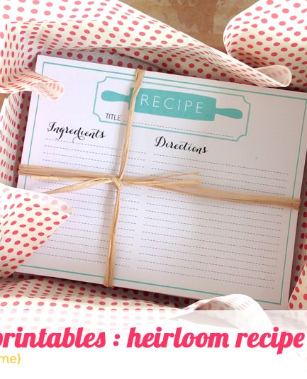 POYEL: Free Heirloom Recipe Card Printables