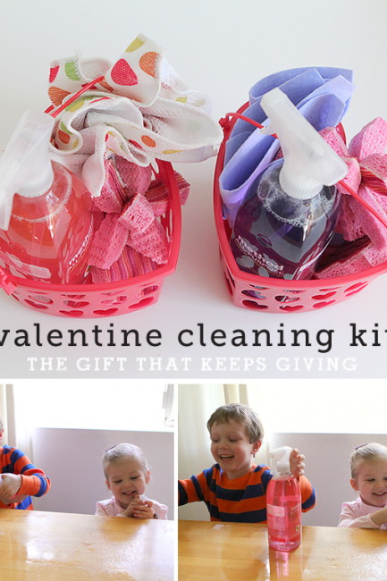 Candy-Free Valentine: Cleaning Baskets the Whole Family Will Love
