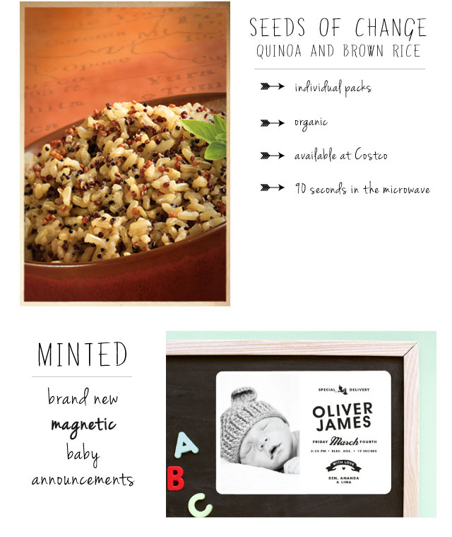 quinoa and brown rice microwave packs