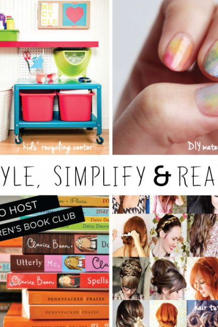 Friday Share: An Easy Lunch, Hair Tutorials, and Bubble Painting