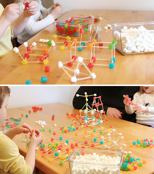 Messy Kitchen Cleaning Games: STEM Activity: Gum Drop Engineering