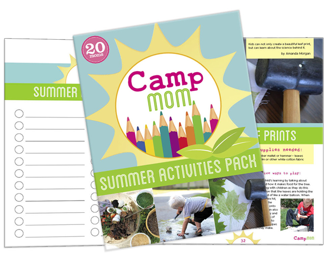 Camp Mom Summer eBook - 84 pages filled with over 60 activities, adventures, and tips for successfully making this summer one of your best.  Perfect for kids ages 2 - 9 yrs old.