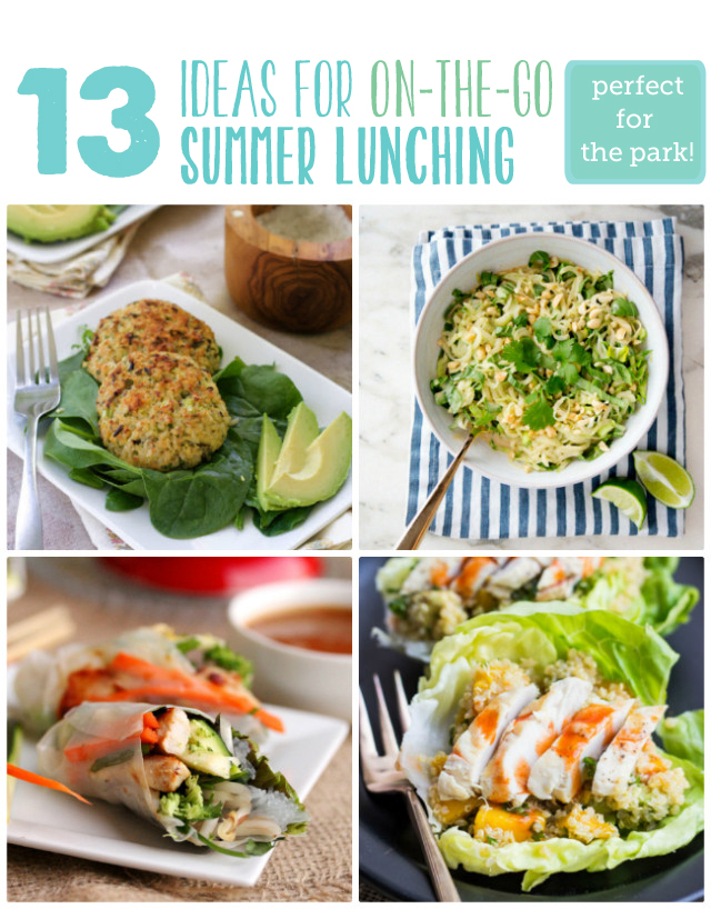 Great list for lunches to bring to the park - hooray for no more PB & J!