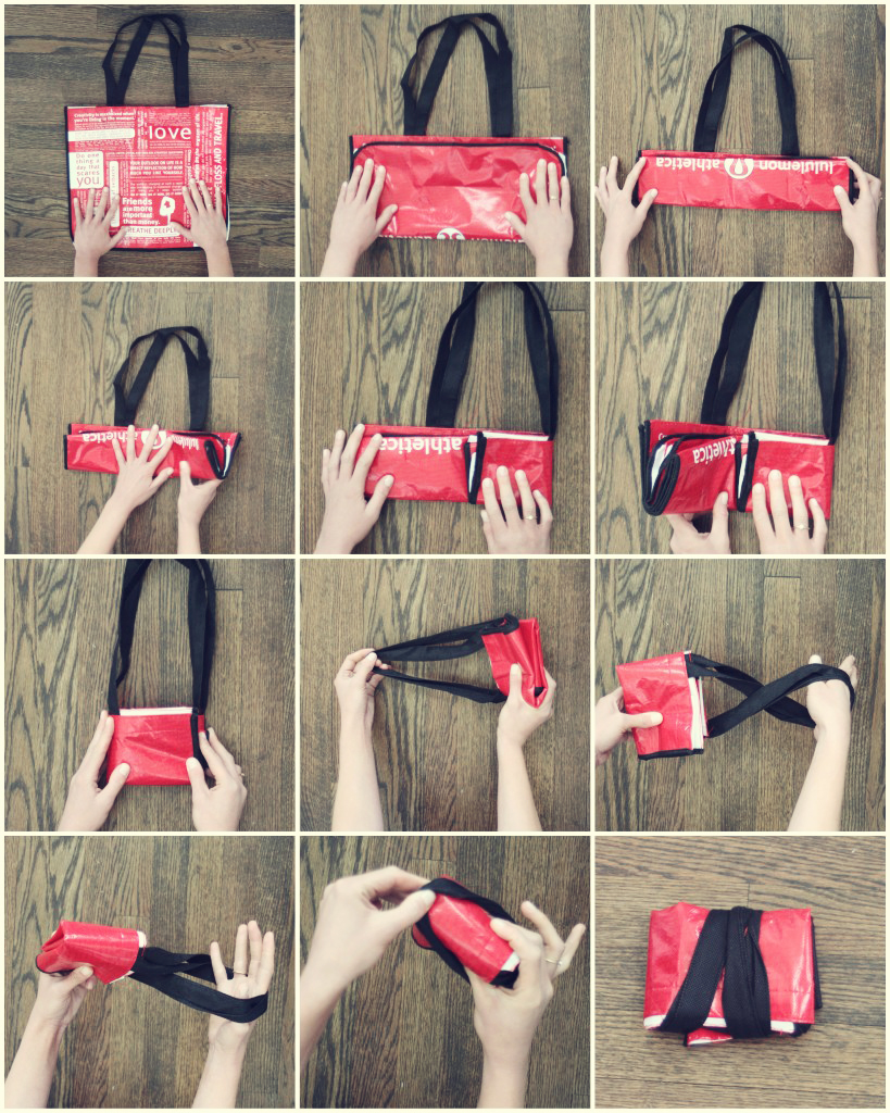 12 steps to folding reusablebag