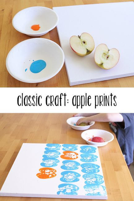 Crafting with Food: Apple Prints
