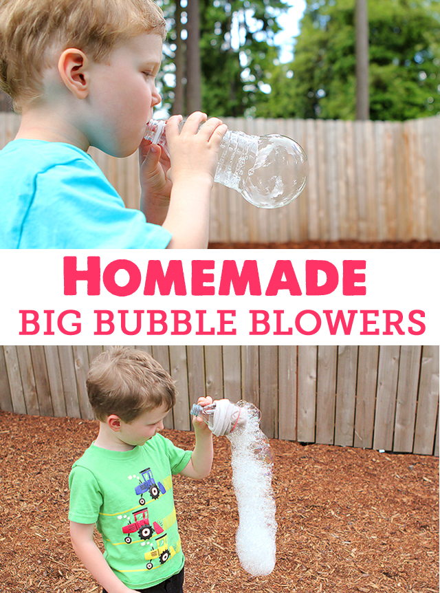 Simple ways to make jumbo bubbles and bubble snakes with the kids