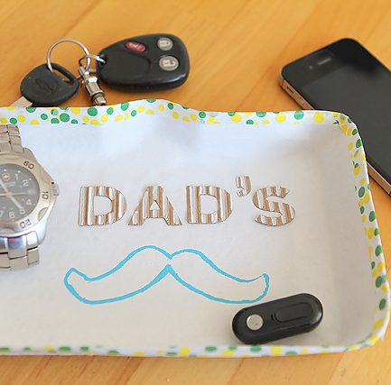 """Dad's Stache"" Tray - ha ha!"