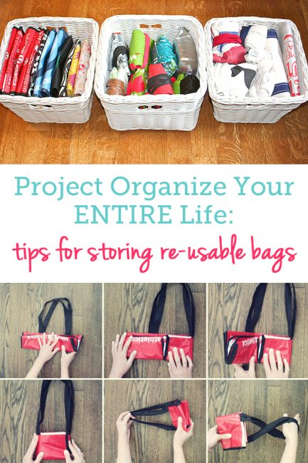 How To Organize Reusable Bags