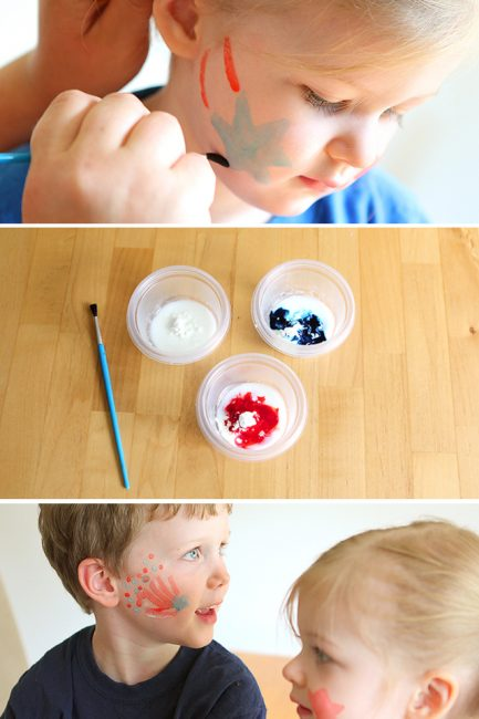 Homemade Face Paints for the 4th of July