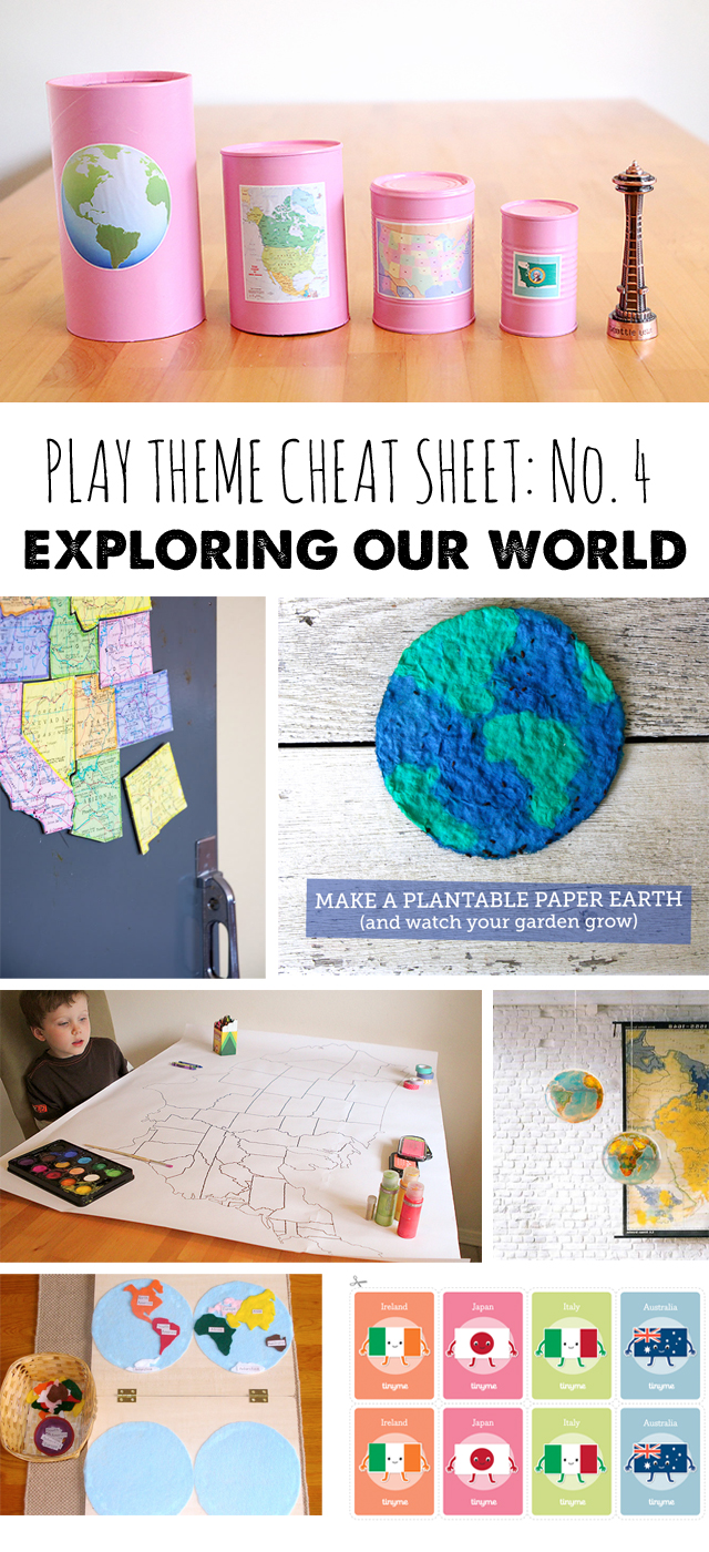 Geography, Map and flag learning activities for kids