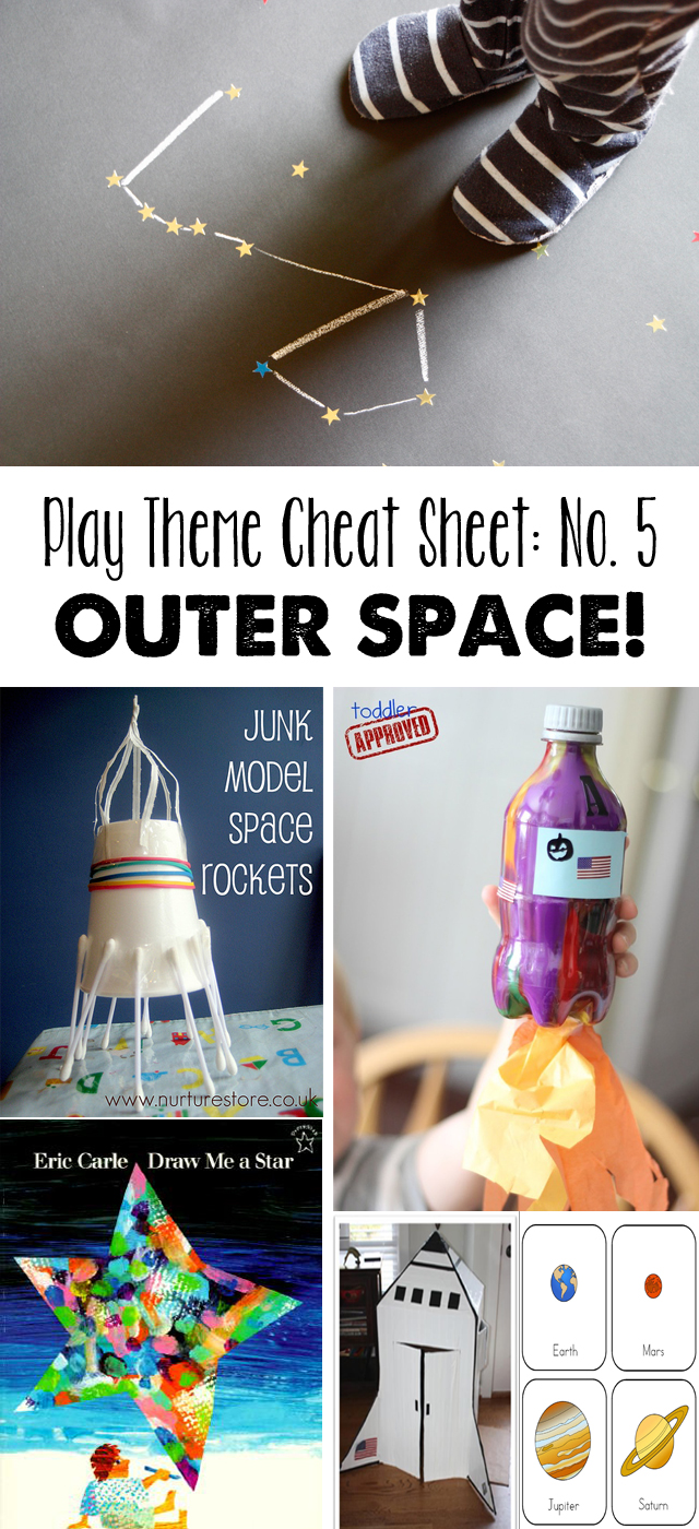 Play theme cheat sheet space modern parents messy kids for Outer space project
