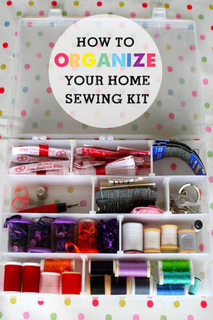 How To Organize Sewing Kits & Spare Buttons (+ Free Printable)