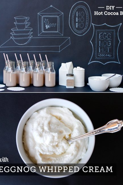 Don't set up your hot cocoa bar without this recipe for eggnog whipped cream!