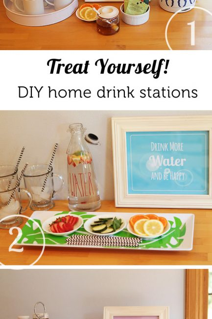 Gourmet Home Drink Stations (+ Free Printables)