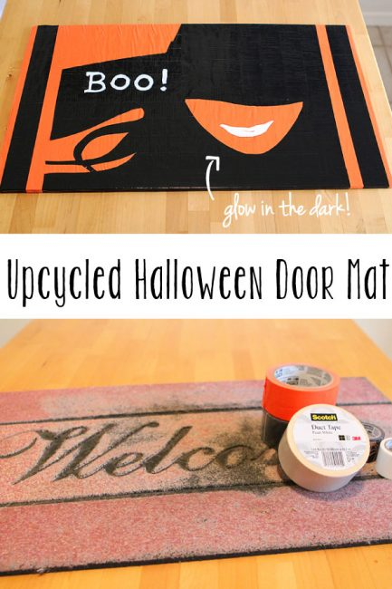 DIY Duct Tape Halloween Door Mat