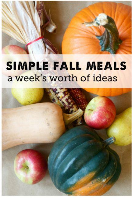 Easy Meal Ideas Using Fall Produce