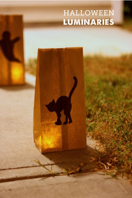 Paper Bag Luminaries for Halloween