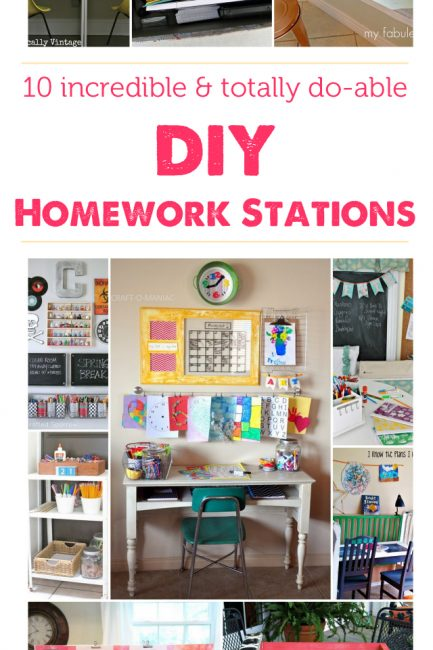Parenting Hack: Do-able DIY Homework Stations to Set Up at Home