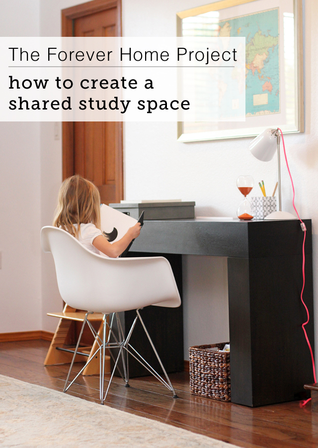 How to set up a study space for the kids without it overtaking the living room/dining room/kitchen
