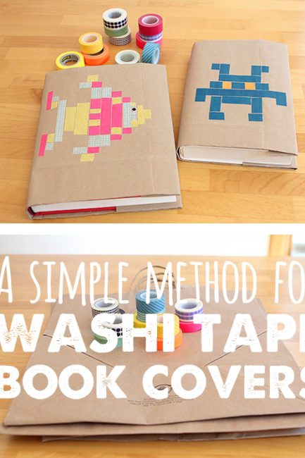 Back-to-School DIY: Washi Tape Book Covers